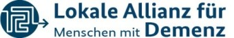 Das Logo zeigt den Schriftzug Lokale Allianzen für Menschen mit Demenz